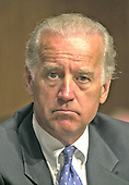 Washington, DC - June 6, 2001 -- United States Senator Joseph R. Biden, Jr. (Democrat of Delaware), who will be the new Chairman of the U.S. Senate Foreign Relations Committee, attends a meeting of the U.S. Senate Judiciary Committee..Credit: Ron Sachs / CNP