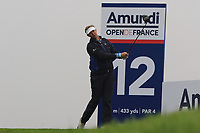 Ryan Evans (ENG) on the 12th tee during Round 4 of the Amundi Open de France 2019 at Le Golf National, Versailles, France 20/10/2019.<br /> Picture Thos Caffrey / Golffile.ie<br /> <br /> All photo usage must carry mandatory copyright credit (© Golffile | Thos Caffrey)