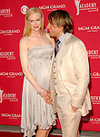Nicole Kidman and Keith Urban at the 2008 ACM Awards at MGM Grand in Las Vegas, May 18 2008.