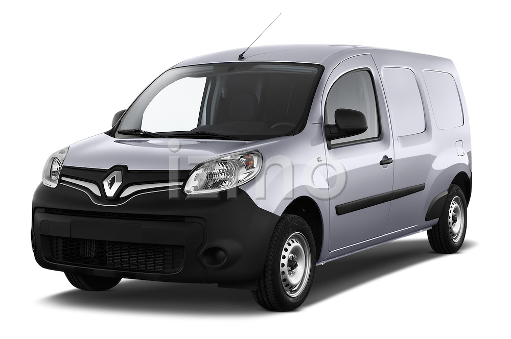 Front three quarter view of a 2013 - 2014 Renault Kangoo Express Maxi 5 Door Mini Mpv Stock Photo