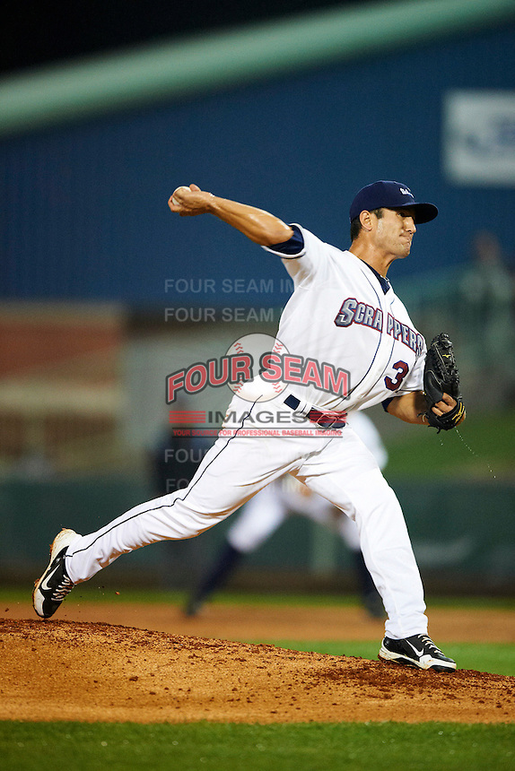 Mahoning Valley Scrappers pitcher Jacob Lee #37 during the NY-Penn League All-Star Game at Eastwood Field on August 14, 2012 in Niles, Ohio.  National League defeated the American League 8-1.  (Mike Janes/Four Seam Images)