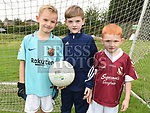 Noah Daly, Lucas Finnegan and Harley Larkin at the Oliver Plunketts Family Fun Day. Photo:Colin Bell/pressphotos.ie
