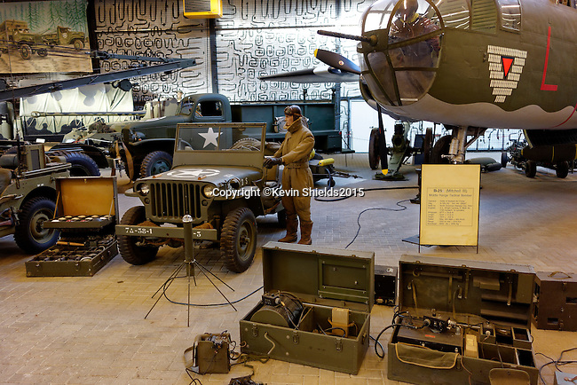 Military vehicles on display at the Overloon Museum, Oorlogsmuseum, Boxmeer, North Brabant, The Netherlands, Europe