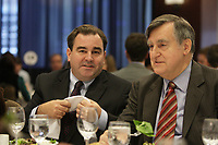 Montreal - CANADA - File Photo - Andrew Molson and Lucien Bouchard (L) in December  2012.<br /> <br /> Photo : Agence Quebec Presse - Pierre Roussel