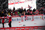 HOLMENKOLLEN, OSLO, NORWAY - March 16: Norwegian fans with flags during the Men 50 km mass start, free technique, at the FIS Cross Country World Cup on March 16, 2013 in Oslo, Norway. (Photo by Dirk Markgraf)