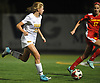 Nicole Gordon #25 of St. Anthony's, left, races downfield during the Nassau-Suffolk CHSAA varsity girls soccer final against Sacred Heart Academy at Adelphi University on Wednesday, Nov. 1, 2017. She broke a scoreless tie with a goal midway through the second half to lead St. Anthony's to a 2-0 win.