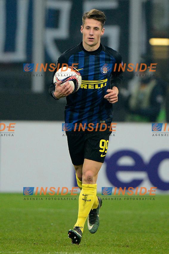 Andrea Pinamonti Inter<br /> Milano 8-12-2016 Stadio Giuseppe Meazza - Football Calcio Europa League Inter - Sparta Praga. Foto Giuseppe Celeste / Insidefoto