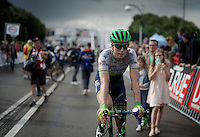 Jens Keukeleire (BEL/Orica-GreenEDGE) post-race<br /> <br /> Belgian National Road Cycling Championships 2016<br /> Les Lacs de l'Eau d'Heure