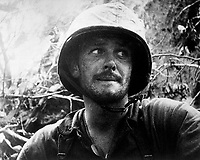 US Marine in action at Peleliu Island, Palau Islands,  Ca.  September 1944. (Navy)<br /> Exact Date Shot Unknown<br /> NARA FILE #:  080-G-48358<br /> WAR &amp; CONFLICT BOOK #:  1182