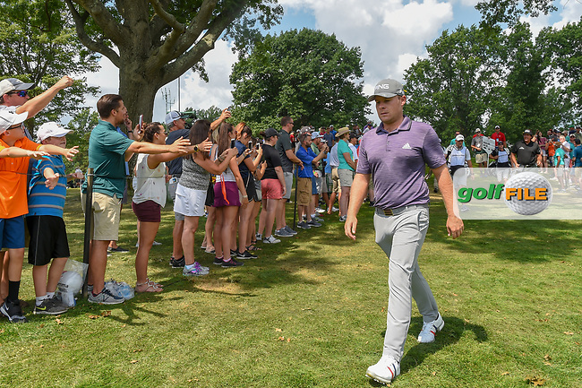 Tyrell Hatton (ENG) heads to 3 during 4th round of the World Golf Championships - Bridgestone Invitational, at the Firestone Country Club, Akron, Ohio. 8/5/2018.<br /> Picture: Golffile | Ken Murray<br /> <br /> <br /> All photo usage must carry mandatory copyright credit (© Golffile | Ken Murray)