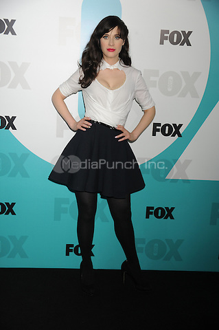 Zooey Deschanel at the Fox 2012 Programming Presentation Post-Show Party at Wollman Rink in Central Park on May 14, 2012 in New York City.. Credit: Dennis Van Tine/MediaPunch