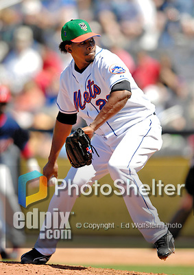 17 March 2007: New York Mets pitcher Jorge Sosa in action against the Washington Nationals on St. Patrick's Day at Tradition Field in Port St. Lucie, Florida...Mandatory Photo Credit: Ed Wolfstein Photo