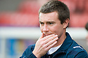 16/10/2010   Copyright  Pic : James Stewart.sct_jsp003_stirling_v_dundee  .::  DUNDEE CARETAKER BOSS BARRY SMITH  ::  .James Stewart Photography 19 Carronlea Drive, Falkirk. FK2 8DN      Vat Reg No. 607 6932 25.Telephone      : +44 (0)1324 570291 .Mobile              : +44 (0)7721 416997.E-mail  :  jim@jspa.co.uk.If you require further information then contact Jim Stewart on any of the numbers above.........