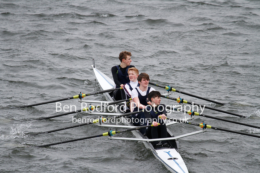 Crew: 92  Kings Sch Worcs  Event: CHAMP quads<br /> <br /> Schools' Head of the River 2017<br /> <br /> To purchase this photo, or to see pricing information for Prints and Downloads, click the blue 'Add to Cart' button at the top-right of the page.