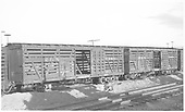 RGS stock cars #7401 and #7406 in the Montrose yard.<br /> RGS  Montrose, CO  Taken by Richardson, Robert W. - 10/14/1945