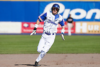 09 September 2012: France Luc Piquet runs the bases for a triple during France 9-8 win in over Belgium, at the 2012 European Championship, in Utrecht, Netherlands.
