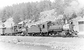 3/4 Engineer's-side view of CB&amp;Q #537 and C&amp;S #72 double-heading a freight train at Baileys.<br /> CB&amp;Q, C&amp;S  Baileys, CO  Taken by Perry, Otto C. - 4/11/1937
