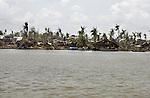 The shore line of the town of Labutta  at  Irrawaddy Division, May 10, 2008. Despairing survivors in Myanmar awaited emergency relief on Friday, a week after 100,000 people were feared killed as the cyclone roared across the farms and villages of the low-lying Irrawaddy delta region. The storm is the most devastating one to hit Asia since 1991, when 143,000 people were killed in neighboring Bangladesh. Photo by Eyal Warshavsky  *** Local Caption *** ëì äæëåéåú ùîåøåú ìàéì åøùáñ÷é àéï ìòùåú áúîåðåú ùéîåù ììà àéùåø