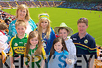 Kerry Fans Tom, Susan, Claire, Caroline, Kate, Mikey and John Crowley, Tralee at the Munster Semi-Final Replay at Park Ui Caoimh on Sunday