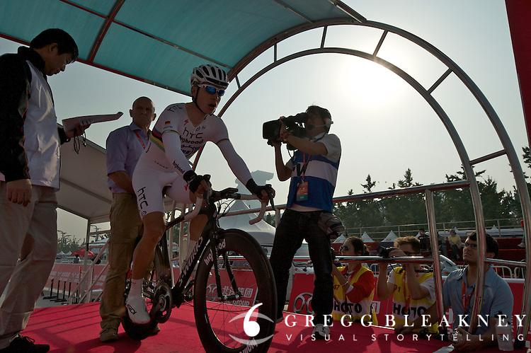 "Tony Martin, HTC - #1 0'00"" -- 2011 Tour of Beijing, Stage 1 ITT"