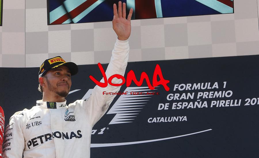 Lewis Hamilton (GBR) Mercedes-Benz winner of  Formula 1, Spanish Grand Prix, Barcelona.