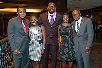 Whitney Mercilus, Houston Texans linebacker, launches his foundation WithMerci at Del Friscos.