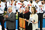 Leipzig, Germany, February 08: During the prize giving ceremony at the FIH Indoor Hockey Men World Cup on February 8, 2015 at the Arena Leipzig in Leipzig, Germany. (Photo by Dirk Markgraf / www.265-images.com) *** Local caption ***