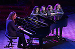 Writer/composer Tim Minchin performs onstage with the cast of 'Matilda'   during the presentation of the 2013 Actors Fund Annual Gala honoring Robert De Niro at the Mariott Marquis Hotel in New York on 4/29/2013...