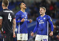 4th February 2020; Cardiff City Stadium, Cardiff, Glamorgan, Wales; English FA Cup Football, Cardiff City versus Reading; Robert Glatzel of Cardiff City celebrates after scoring Cardiff City's second goal making it 2-0 in the 54th minute