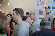 Sunday, September 20, 2010, Somerhill Gallery in Durham, N.C., auctions off all remaining artwork and fixtures after declaring bankruptcy. Owner Joe Rowand makes his way through the crowd. ...