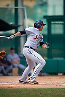 Detroit Tigers right fielder Reynaldo Rivera (35) at bat during an Instructional League game against the Atlanta Braves on October 10, 2017 at the ESPN Wide World of Sports Complex in Orlando, Florida.  (Mike Janes/Four Seam Images)