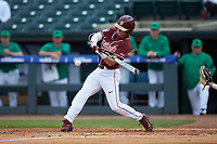 Matt Henderson (24) of the Florida State Seminoles at bat against the Notre Dame Fighting Irish in Game Four of the 2017 ACC Baseball Championship at Louisville Slugger Field on May 24, 2017 in Louisville, Kentucky. The Seminoles walked-off the Fighting Irish 5-3 in 12 innings. (Brian Westerholt/Four Seam Images)