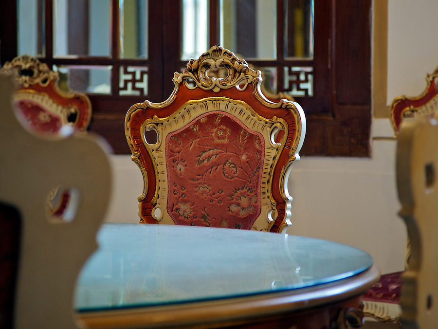 Dining table and chair (Chinese-style dining room).