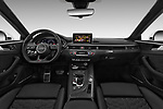 Stock photo of straight dashboard view of a 2018 Audi RS5 4WD 2 Door Coupe
