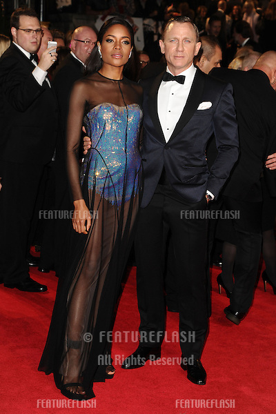 Naomie Harris and Daniel Craig arriving for the Royal World Premiere of 'Skyfall' at Royal Albert Hall, London. 23/10/2012 Picture by: Steve Vas / Featureflash