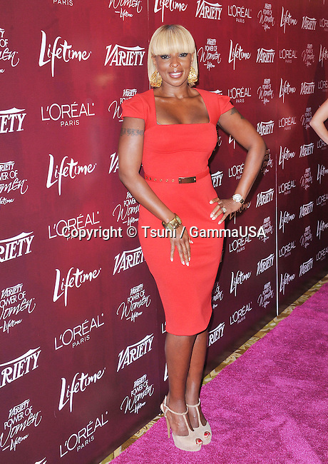 Mary J. Blige  at the Variety's 3rd Annual Power of Women Luncheon in Beverly Hills.