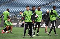 SEATTLE, WA - NOVEMBER 9: Raul Ruidiaz #9 of the Seattle Sounders FC at CenturyLink Field on November 9, 2019 in Seattle, Washington.