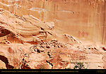 Fremont Culture Pictographs, Anthropomorphs (Warrior and Shaman Figures), Calf Creek Canyon, Grand Staircase Escalante National Monument, Utah