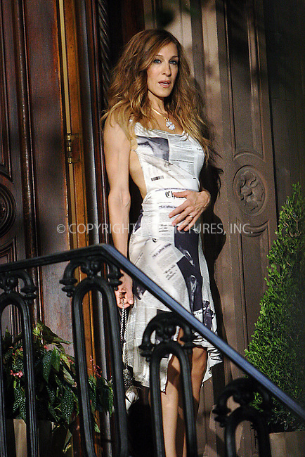 WWW.ACEPIXS.COM . . . . .  ....September 4 2009, New York City....Actress Sarah Jessica Parker wears a Christian Dior dress on the set of the new 'Sex and the City' movie on September 4 2009 in New York city....Please byline: NANCY RIVERA- ACE PICTURES.... *** ***..Ace Pictures, Inc:  ..tel: (212) 243 8787 or (646) 769 0430..e-mail: info@acepixs.com..web: http://www.acepixs.com