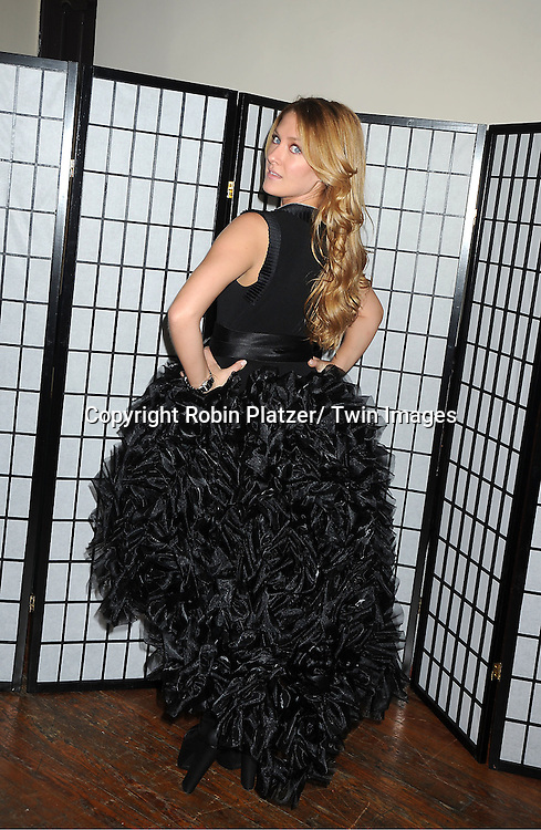 """BethAnn Bonner in Sohung Desing black puffy dress attends The """"Daytime Meets Nighttime"""" hosted by .The Imperial Court of New York on November 4, 2011 at .The Jan Hus Theatre in New York City. The benefit was for The Jan Hus Theatre and Lifebeat."""