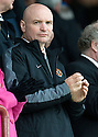 DUNDEE UTD CHAIRMAN STEPHEN THOMPSON TAKES HIS SEAT IN THE STAND BEFORE THE MATCH