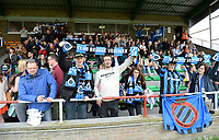 20180414 - AALTER , BELGIUM : Brugge's fans and supporterspictured during the 21st matchday in the 2e Nationale Women's league , a womensoccer game between Club Brugge Dames and GFA Sinaai , in Aalter , saturday 15 th April 2018 . PHOTO SPORTPIX.BE | DAVID CATRY