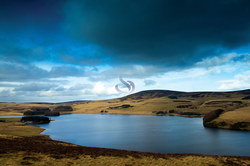 Spartleton and Whiteadder Reservoir, the Lammermuir Hills, East Lothian