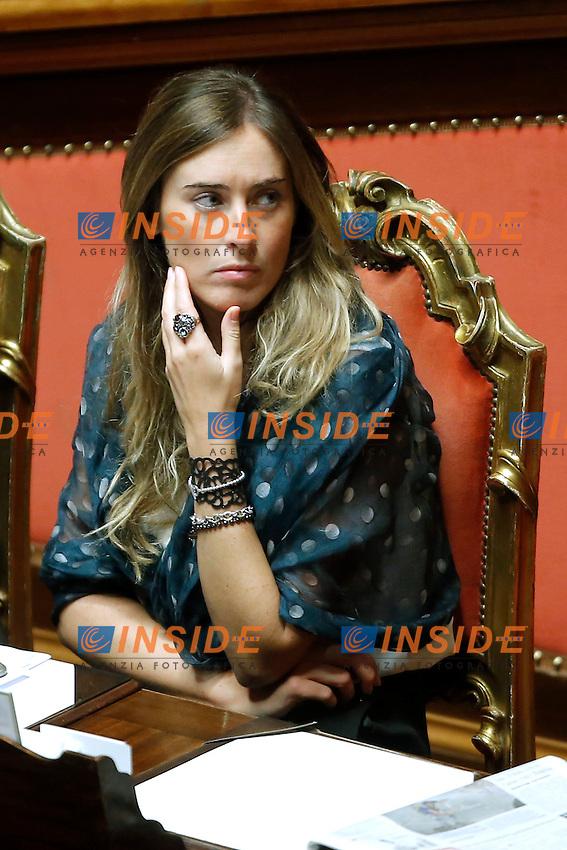 Maria Elena Boschi<br /> Roma 17-09-2015 Senato. Discussione sul DDL Boschi, Riforma Costituzionale.<br /> Senate, discussion on Costitutional Reform<br /> Photo Samantha Zucchi Insidefoto