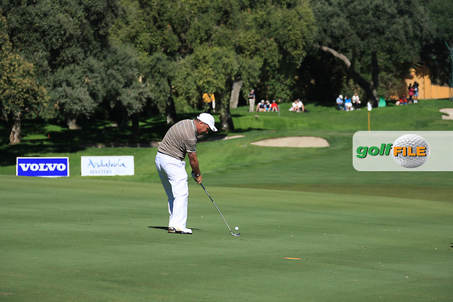 Damien McGrane (IRL) during the 2nd day at the  Andalucía Masters at Club de Golf Valderrama, Sotogrande, Spain. .Picture Fran Caffrey www.golffile.ie