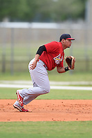 St. Louis Cardinals first baseman Jonathan Rodriguez (28) during a minor league spring training intrasquad game on March 28, 2014 at the Roger Dean Stadium Complex in Jupiter, Florida.  (Mike Janes/Four Seam Images)