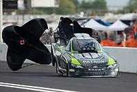 Apr 22, 2017; Baytown, TX, USA; NHRA funny car driver Alexis DeJoria during qualifying for the Springnationals at Royal Purple Raceway. Mandatory Credit: Mark J. Rebilas-USA TODAY Sports