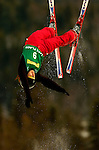 16 January 2005 - Lake Placid, New York, USA - Anna Belikh representing Russia, competes in the FIS World Cup Ladies' Aerial acrobatic competition, ranking 29th for the day, at the MacKenzie-Intervale Ski Jumping Complex, in Lake Placid, NY. ..Mandatory Credit: Ed Wolfstein Photo.