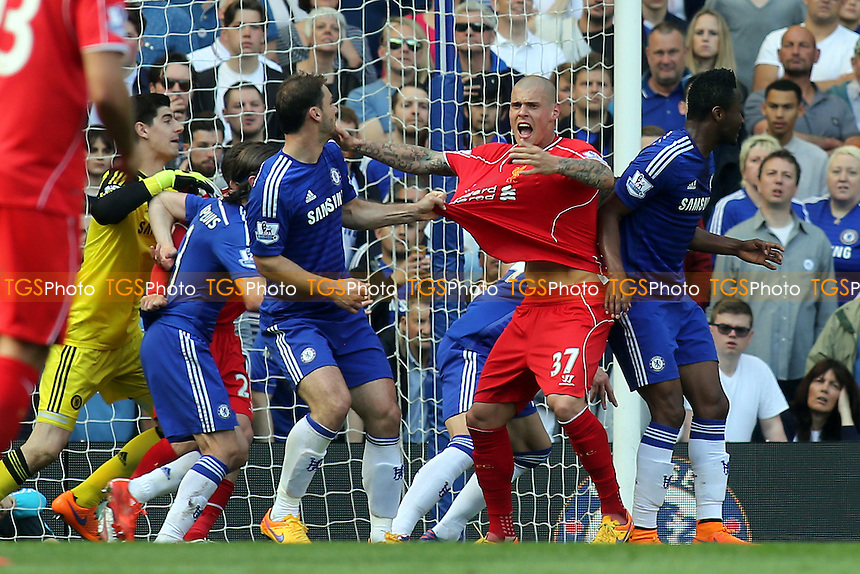 Martin Skrtel of Liverpool appeals for a penalty - Chelsea vs Liverpool - Barclays Premier League Football at Stamford Bridge, London - 10/05/15 - MANDATORY CREDIT: Paul Dennis/TGSPHOTO - Self billing applies where appropriate - contact@tgsphoto.co.uk - NO UNPAID USE