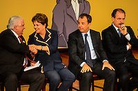 RIO DE JANEIRO, RJ, 27 AGOSTO 2012-CERIMONIA NACIONAL OBMEP 2011-A Presidenta Dilma Rousseff, o Governador do Rio de Janeiro, Sergio Cabral, o Ministro da Educacao, Aloizio Mercadante, o Ministro da Ciencia e Tecnologia, Marco Antonio Raupp participam da Cerimonia de Premiacao da Olimpiada Brasileira de Matematica das Escolas Publicas, no Teatro Municipal no centro do Rio de Janeiro.(FOTOMARCELO FONSECA BRAZIL PHOTO PRESS).